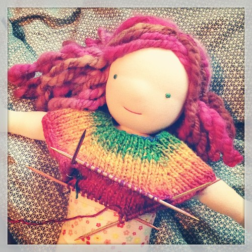 Knitting away!