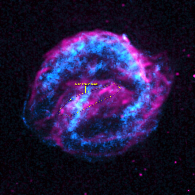 Kepler Supernova Remnant: Infrared and Iron (NASA, Chandra ...