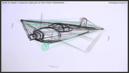 learn how to draw a cartoon airplane in two point perspective 020