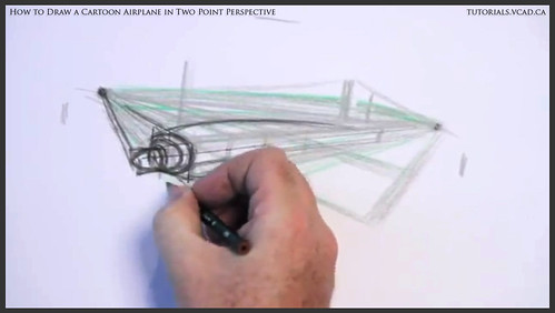 learn how to draw a cartoon airplane in two point perspective 013