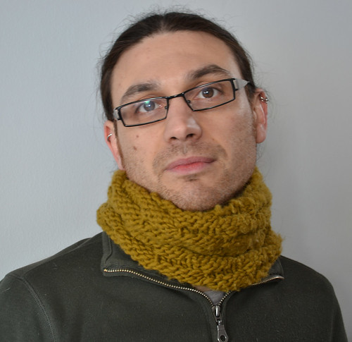 basketweave cowl
