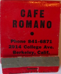CAFE ROMANO BERKELEY CALIF