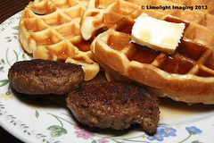 Macadamia Nut Waffles with Grade A Maple Syrup - A…