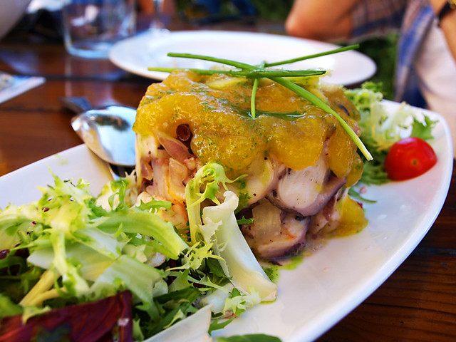 Octopus and Orange Salad