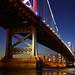 Ben Franklin Bridge From Camden by Bryan Carnathan