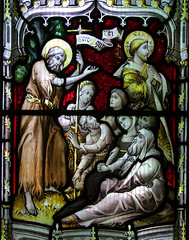 St John the Baptist indicates the Lamb of God