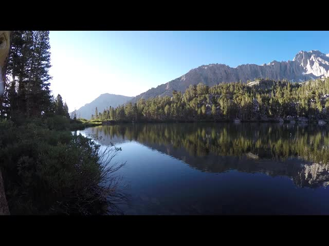 1955 GoPro video panorama of dawn reflections on Gilbert Lake
