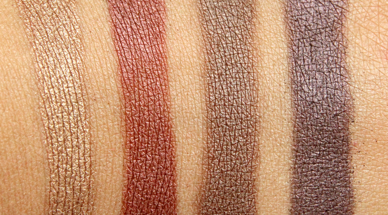 IsaDora bohemian eye shadow quartet swatch