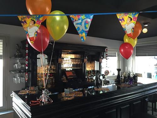 Tafeldecoratie 3ballonnen Winebar Grapps Spijkenisse