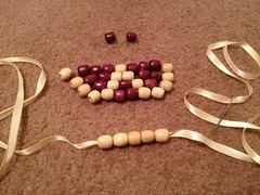 Wooden Bead Bib Necklace - Step 1