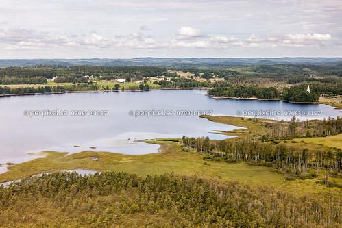 3 natur sverige kalv swe västragötaland hestra flygfoto lommaholmen
