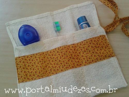 Necessaire atoalhada para Escovação Dental by miudezas_miudezas
