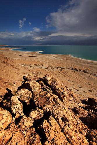 sky water clouds landscape israel sand rocks desert middleeast jordan deadsea eingedi stateofisrael mitspeshalem