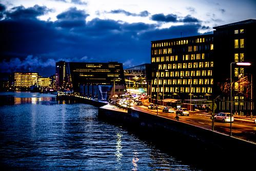 bridge winter copenhagen evening knippelsbro knippel knippelbro
