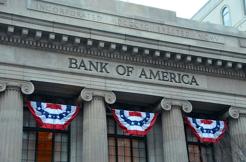 Bank of America bunting