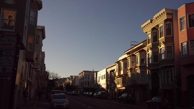 Sunset begins, San Francisco