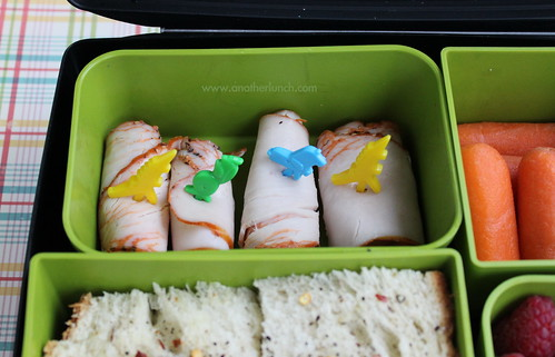 turkey rolls with bento picks