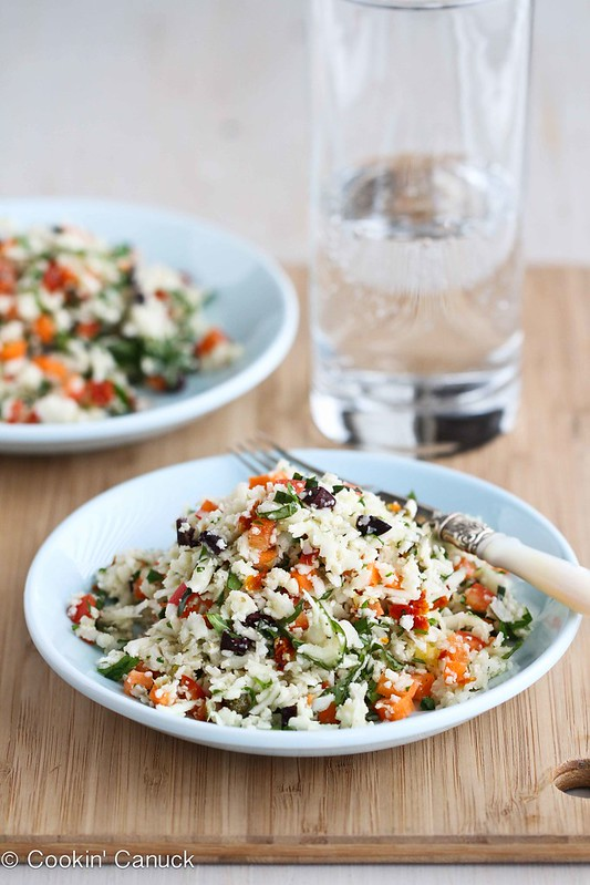Grated Cauliflower Salad Recipe with Peppers, Carrots & Capers by ...