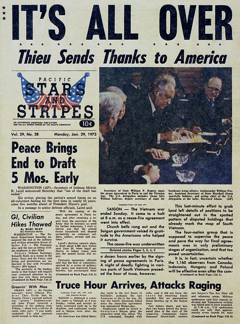 STARS AND STRIPES (Jan. 29, 1973) - IT'S ALL OVER