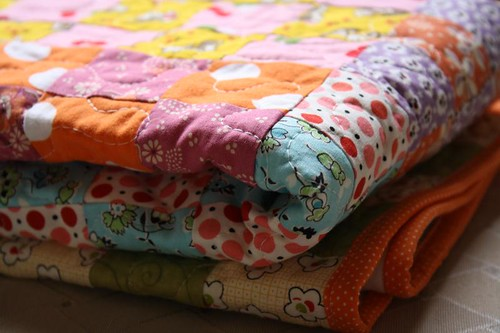 36 Patch Baby Quilt Folded