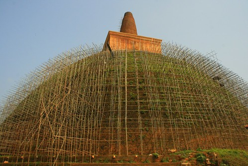 renovating of a 2000 years old dagoba by hatschiputh