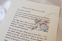 Victor Hugo Love Letter Charm Necklace by Ciarrai Studios