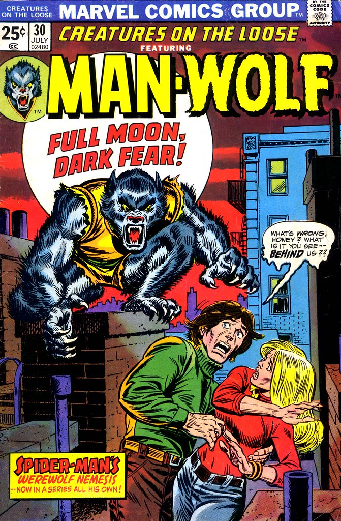 Gil Kane, John Romita - Creatures on the Loose #30, Man-Wolf Cover 1974