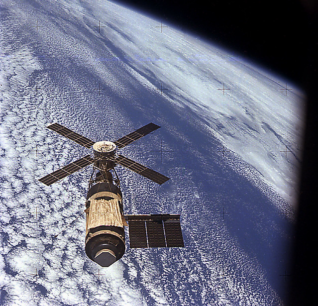 Skylab in Orbit (NASA Archive, 11/16/73)