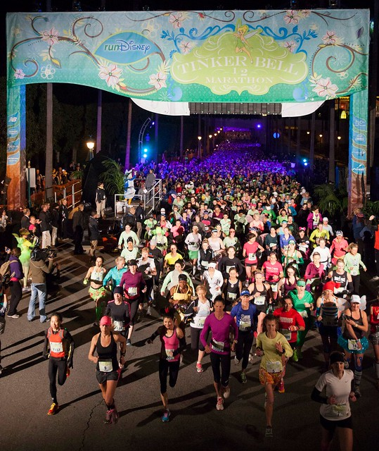 The start of the runDisney Tinker Bell Half Marathon 2013. Photo by runDisney.