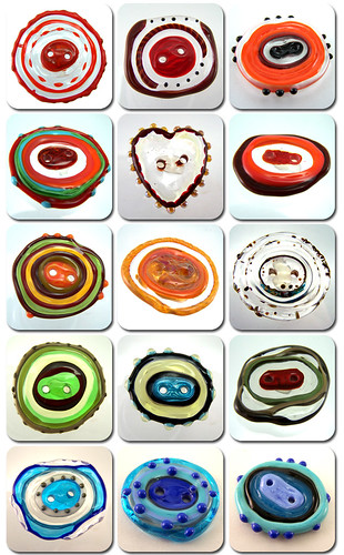 Lampwork Button Collage