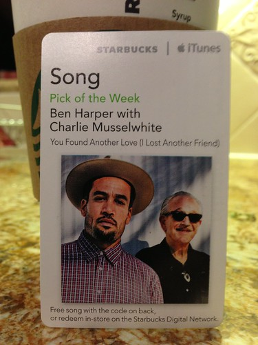 Starbucks iTunes Pick of the Week - Ben Harper with Charlie Musselwhite - You Found Another Love (I Lost Another Friend)