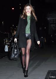 Miranda Kerr Leather Shorts Celebrity Style Women's Fashion