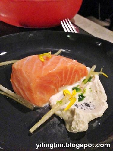Small Plate - Salmon, horseradish, celery