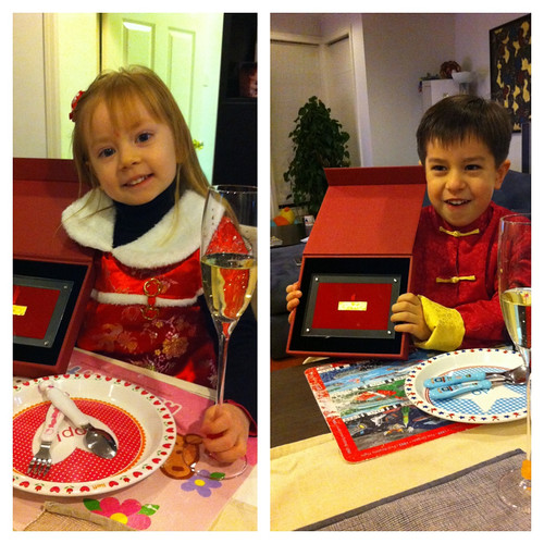 Scott and Elaine and their Chinese New Year presents