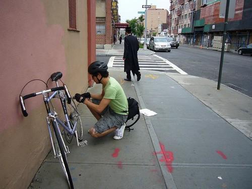 Foto ciclista en Nueva York