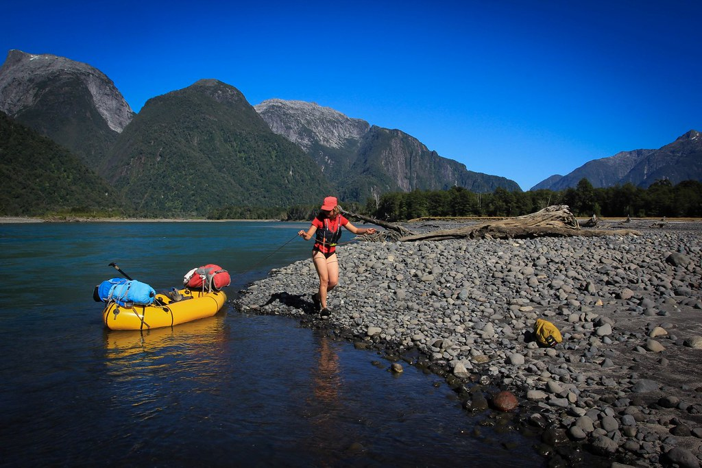 February. Packrafing Rio Yelcho. Patagonia. Region de los Lagos. Chile.