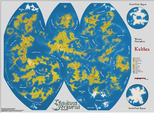 Kulthea world map