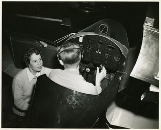 left to right: Anesia Pinheiro Machado (1902-1999) and Pilot Dean E. Robinson