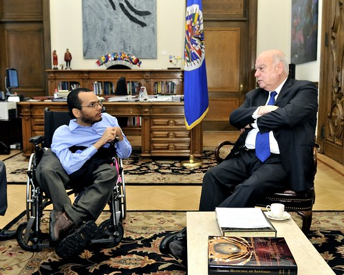 OAS Secretary General Meets with the Secretary of State for the Integration of Persons with Disabilities in Haiti