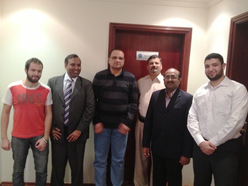 SARC staff with Mr. Devang Jhaveri from Global Manager Group at SARC Qatar
