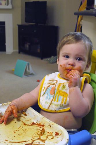 Claire Tries Spaghetti