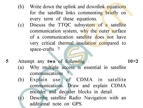 UPTU B.Tech Question Papers - EC-803 - T.V. & Satellite Communication