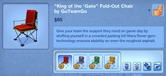 King of the Gate Fold Out Chair by GoTeamGo