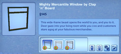 Mighty Mercantile Window by Clap 'n' Board