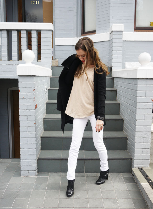 my fair vanity black trench white jeans style blog neutral for spring 2013 2