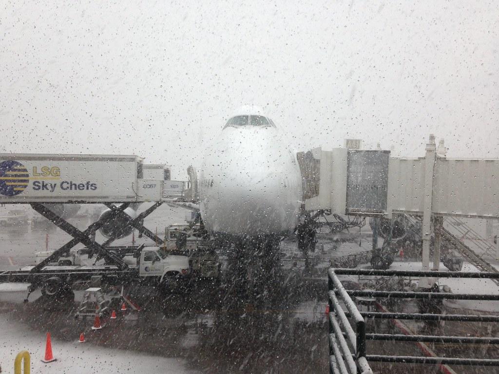 Snowy Denver.