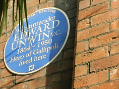 Photo of Edward Unwin blue plaque