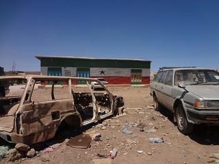 Carro desmontado em Wajaale, Somalilândia