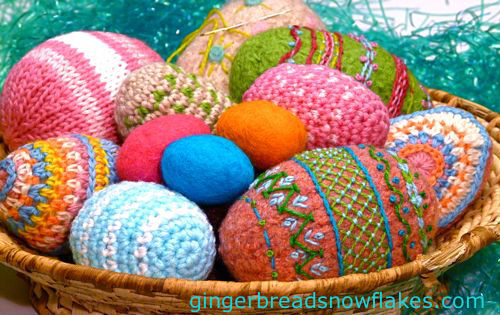 Easter Basket filled with Fiber Eggs