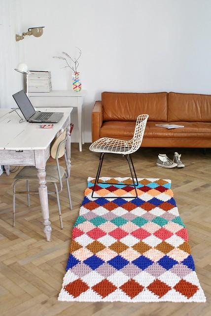 wood & wool rug 020